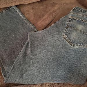 Men's denim jeans.